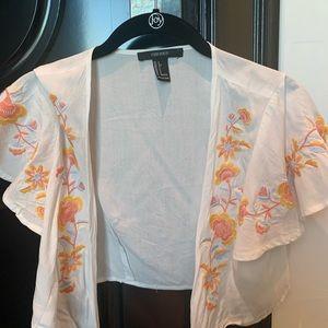 white forever21 shirt